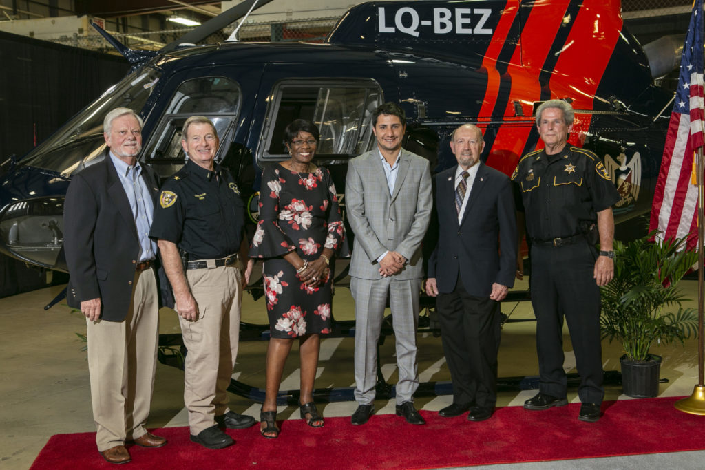 Mendoza dignitaries accepted the H125 aircraft on behalf of its police force. Metro Photo