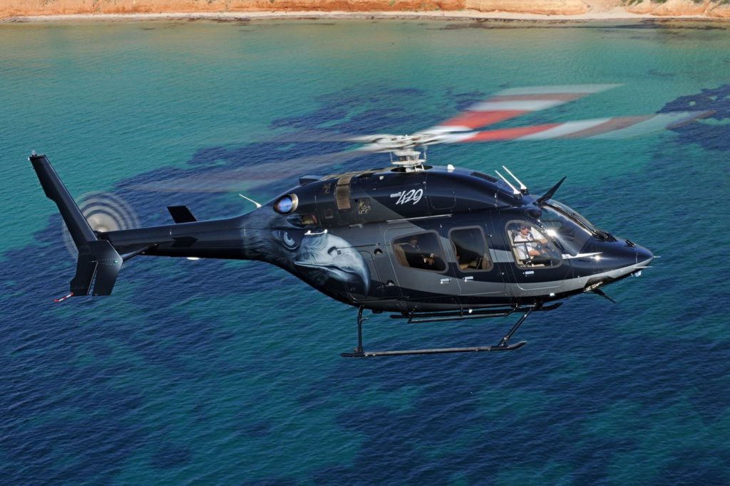 The Bell 429 is chosen by corporate customers, police forces and medical teams around the world for time-sensitive missions. The aircraft will be on display at this year's MEBAA show, along with the Bell 505 Jet Ranger X. Bell Photo