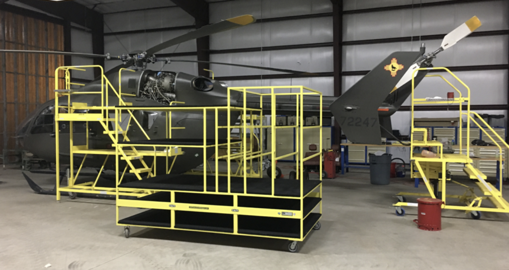 The Army National Guard worked alongside S.A.F.E. to design the cowling rack to increase efficiency and safety for the maintenance team. S.A.F.E. Photo
