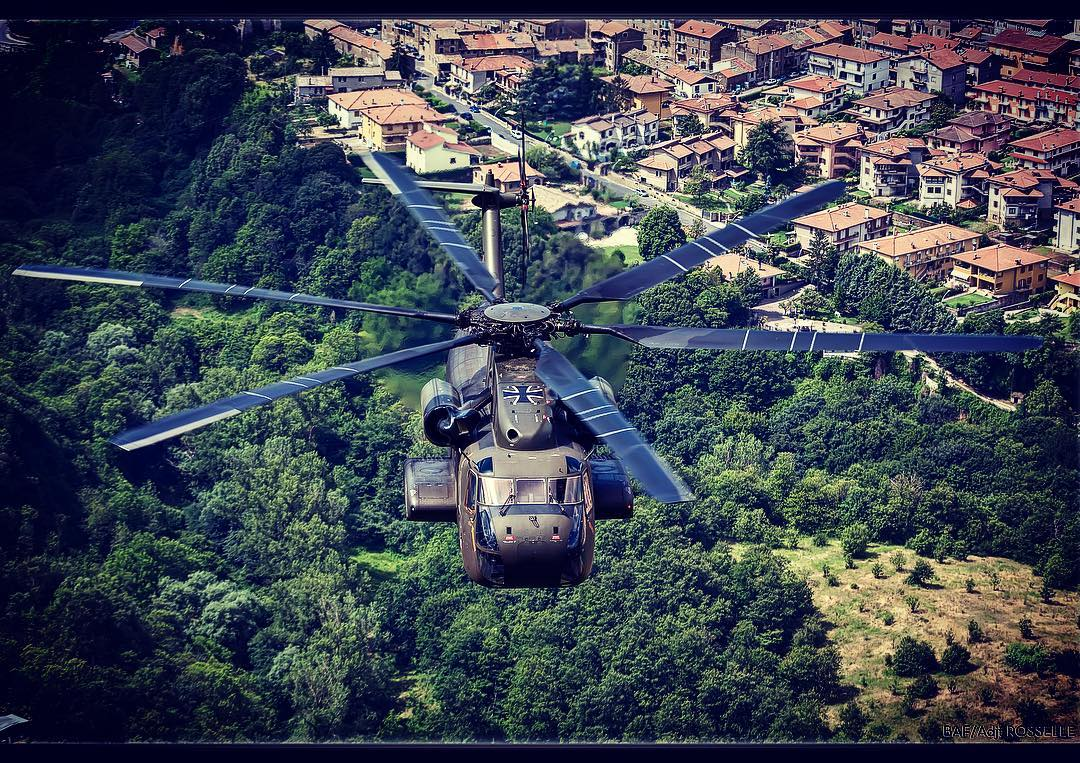A Sikorsky CH-53 somewhere over Italy. Photo submitted by Instagram user @ross_impress using #verticalmag