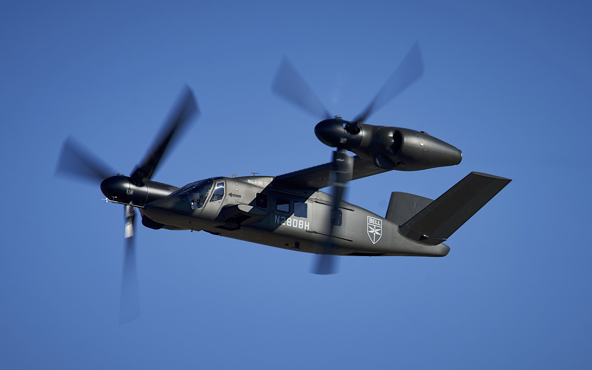 The V-280 expects to complete all the key performance parameters in the coming months, including additional low-speed agility tests and full cruise speed in forward flight. Bell Photo