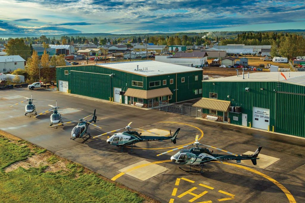 Slave Lake Helicopters' headquarters is spread over two hangars in Slave Lake, about 125 miles northwest of Edmonton in the geographic center of Alberta. Heath Moffatt Photo