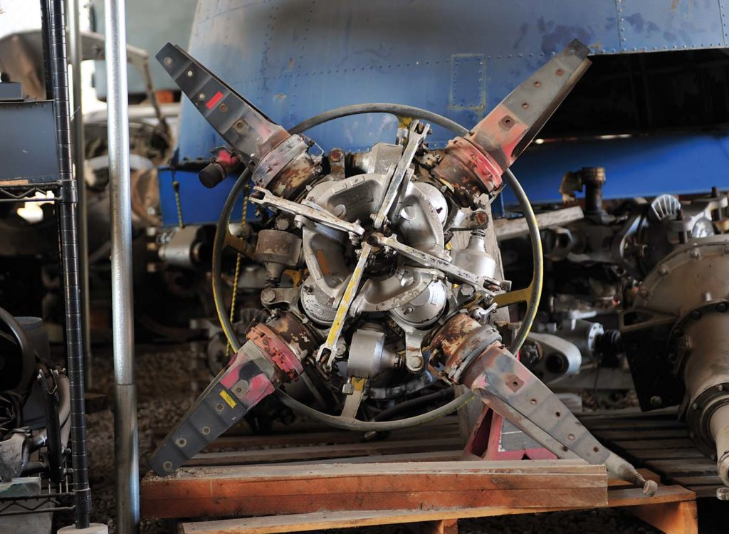 The intricate detail of a CH-37 tail rotor hub. Skip Robinson Photo
