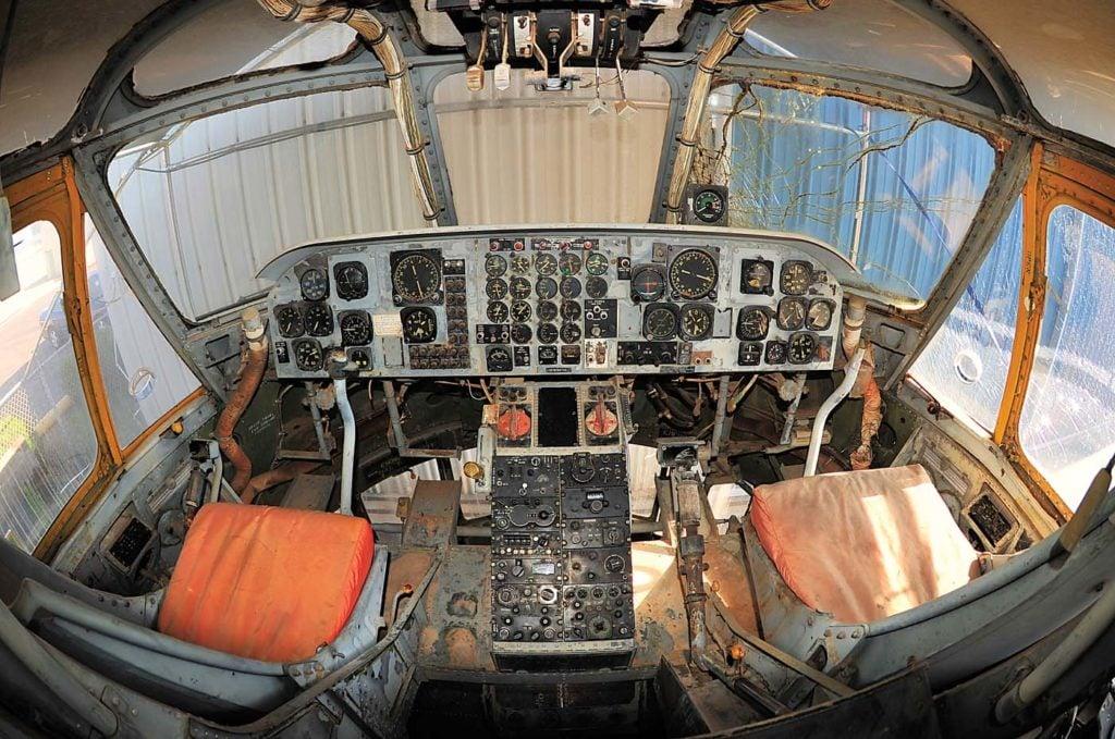 The cockpit of the CH-37. Skip Robinson Photo
