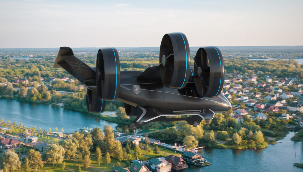 Bell is bringing a full-scale mockup of its Nexus air taxi to CES 2019 and HAI Heli-Expo 2019. Bell Image