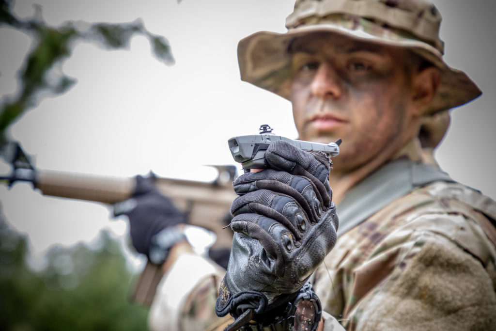 The Black Hornet enables the warfighter to maintain situational awareness, threat detection, and surveillance no matter where the mission takes them. FLIR Photo