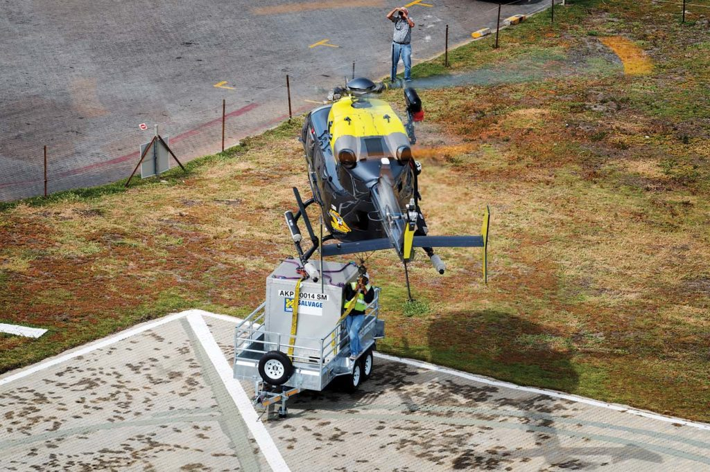 AGA's helipad in the Port of Cape Town Customs and Immigration Area allows AGA to offer a full off port limits service to the shipping industry and emergency maritime services. Lloyd Horgan Photo