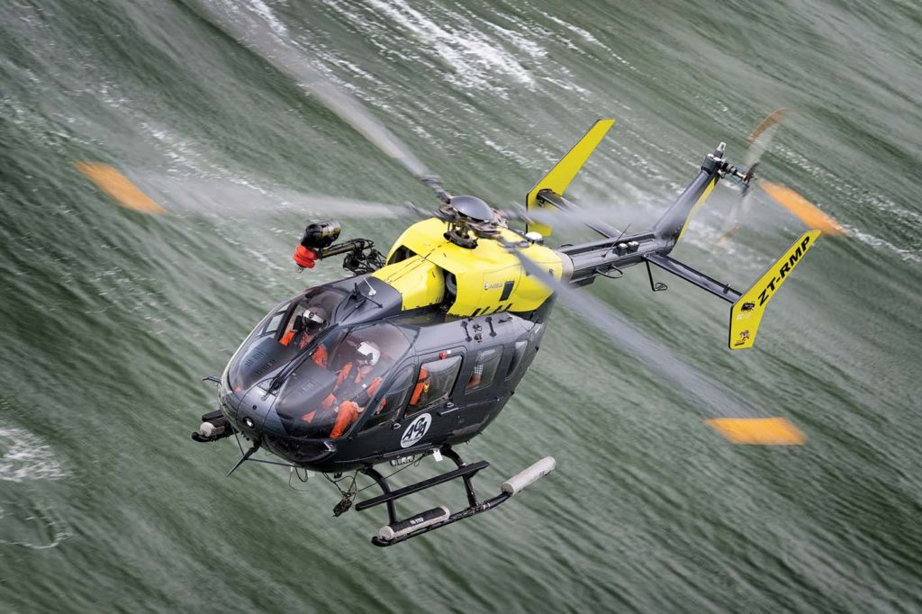 AGA's EC145 is occasionally called upon to perform VIP charter or tour flights, particularly for customers who demand twin-engine reliability. Lloyd Horgan Photo