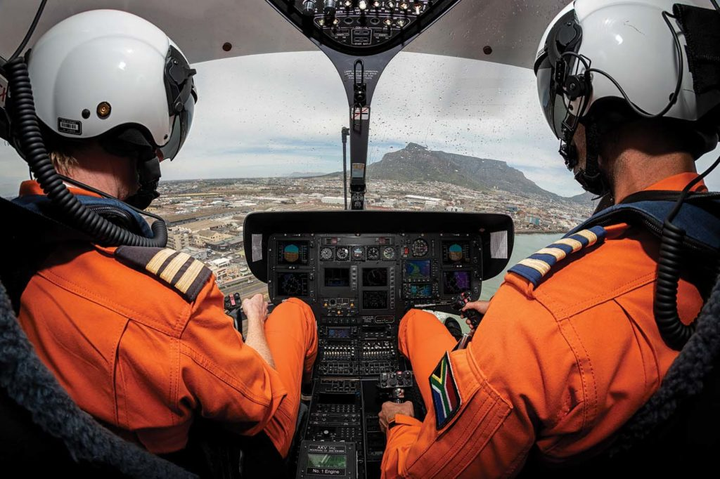The EC145's autopilot and avionics permit demanding night and IFR missions. Lloyd Horgan Photo