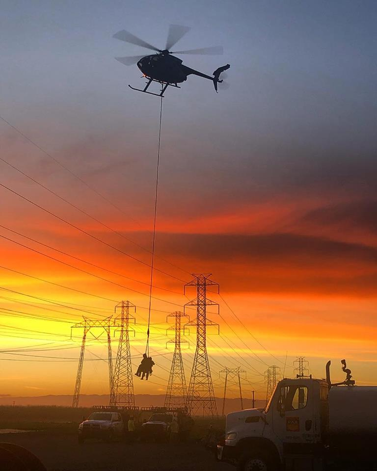 An MD 500 conducts human external cargo operations in Bakersfield, California. Photo taken by Tyler Price, submitted by Tommy Levanger (Instagram user @mr_tommypickles)