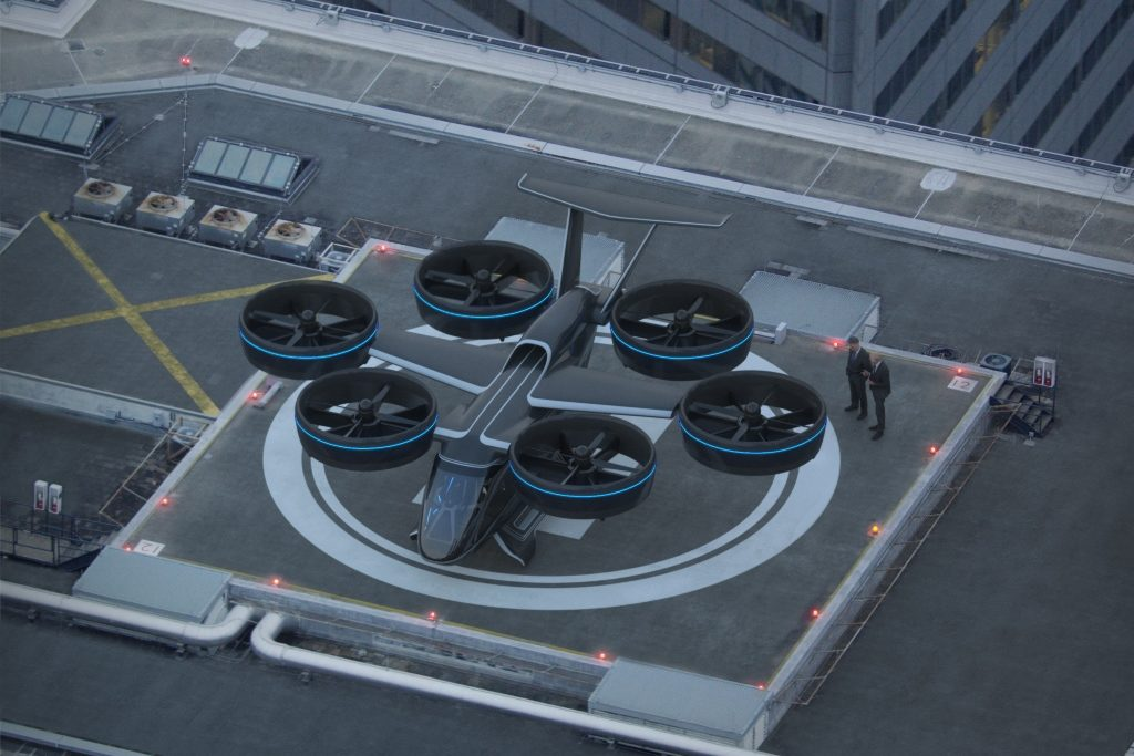 Bell believes the Nexus will fit onto most traditional helipads, with a footprint under 40 feet by 40 feet. Bell Image