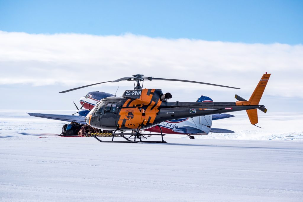 Ultimate Heli has deployed one Airbus AS350 B2 (pictured) and two Bell 412EPs to Antarctica. Ultimate Heli Photo