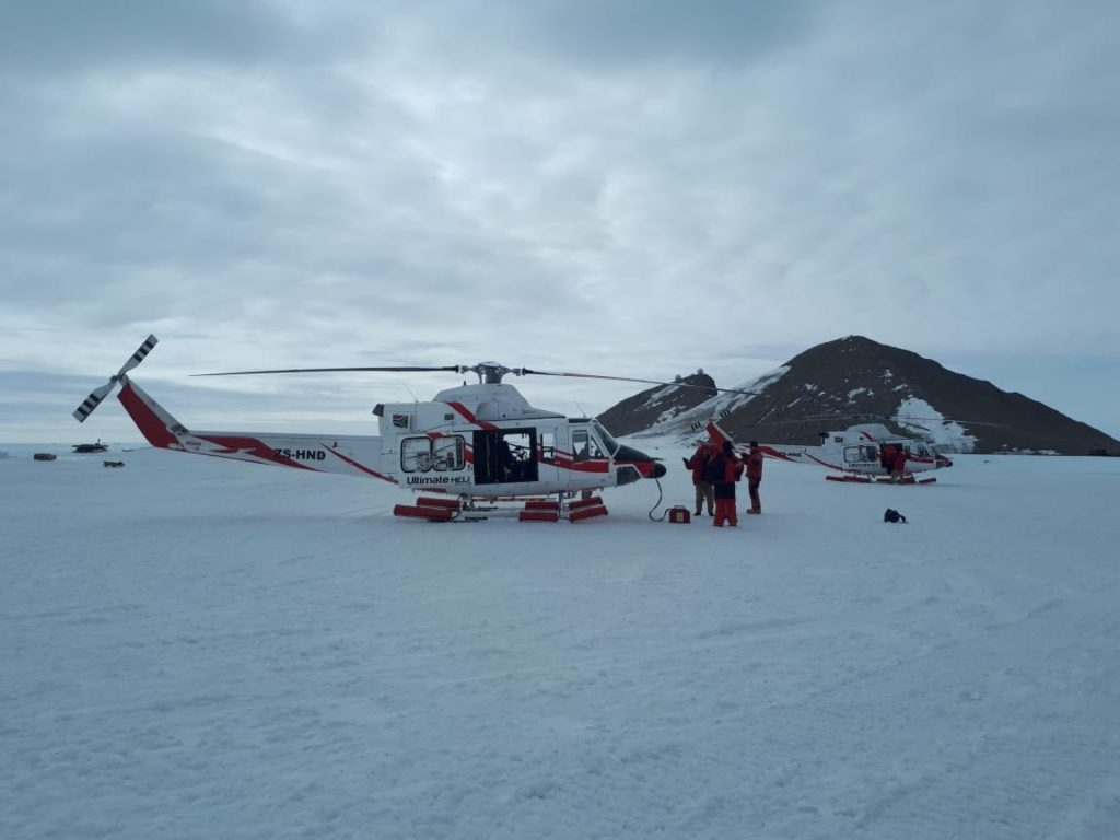 Ultimate Heli's aircraft departed Cape Town on two different ice breakers in December 2018 and January 2019. Ultimate Heli Photo