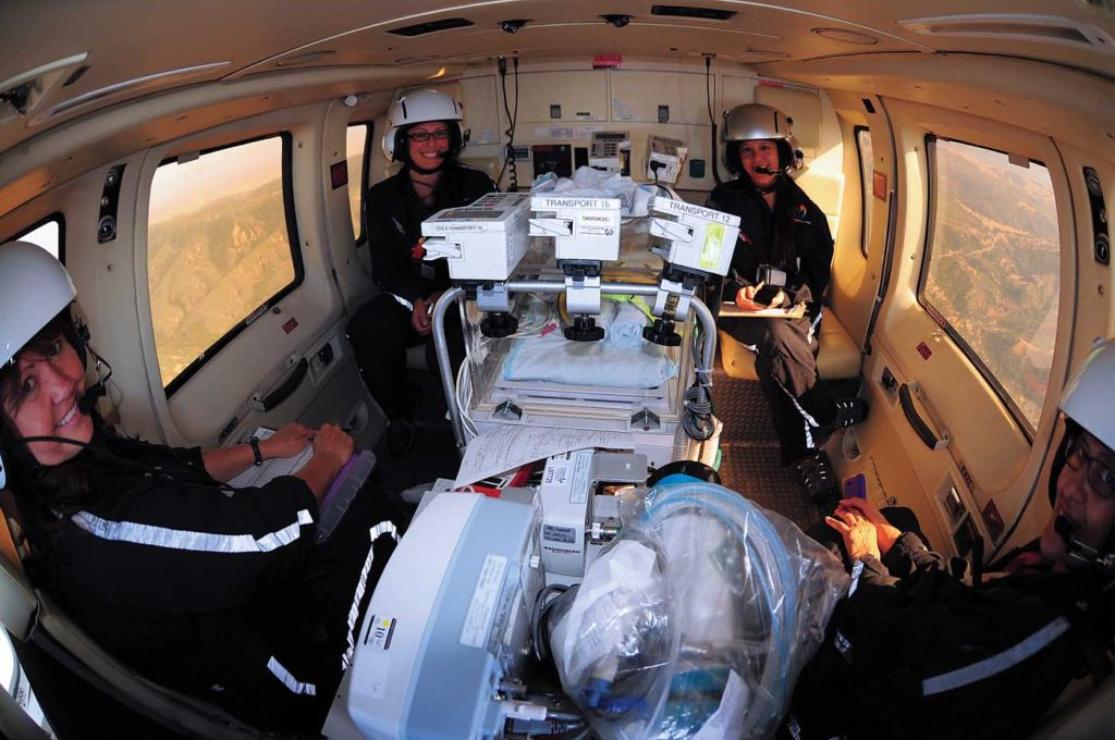 The new S-76C+ boasts a medical interior by Spectrum Aeromed. Skip Robinson Photo