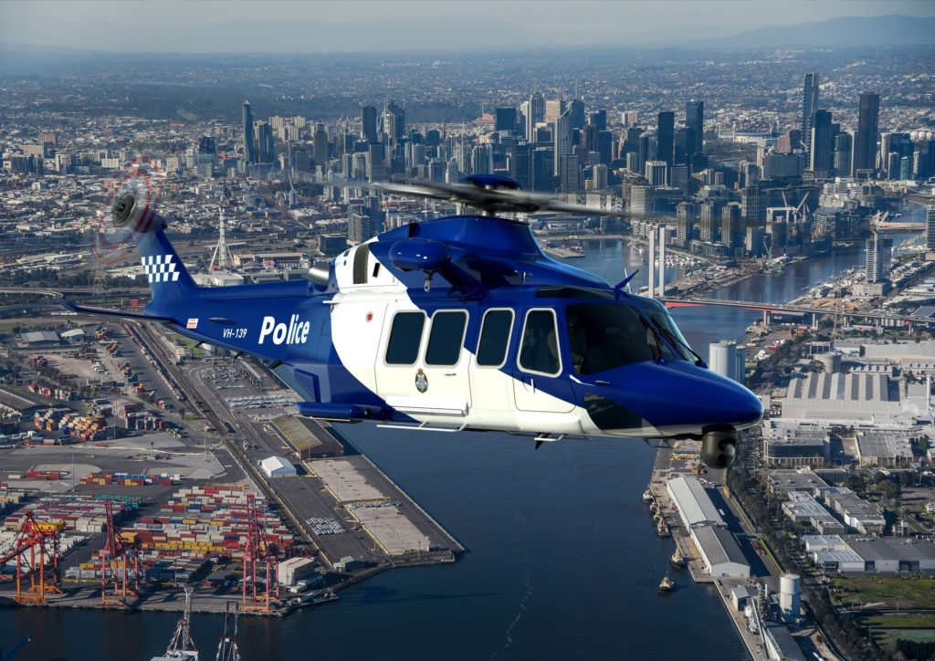 The AW139s will be delivered to Victoria Police Air Wing in late 2019 and will enter service in 2020 following dedicated mission customization. Leonardo Photo