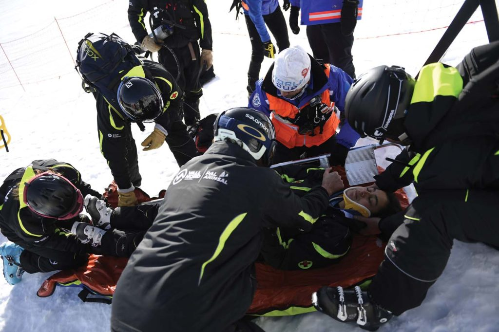 Heliand's staff of 10 people is augmented by mountain rescue specialists from the Andorran government. Anthony Pecchi Photo