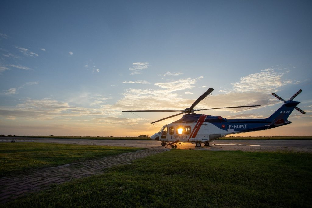 Heli-Union's operations commenced from Port Gentil airport in October 2018, with two medium type helicopters. Heli-Union Photo