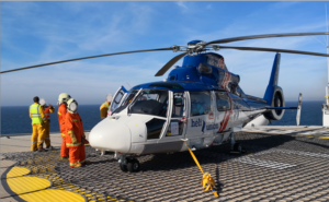 Heli-Union has provided two medium helicopters to support Total E&P's exploration campaign through crew transfers and medevac services. Heli-Union Photo