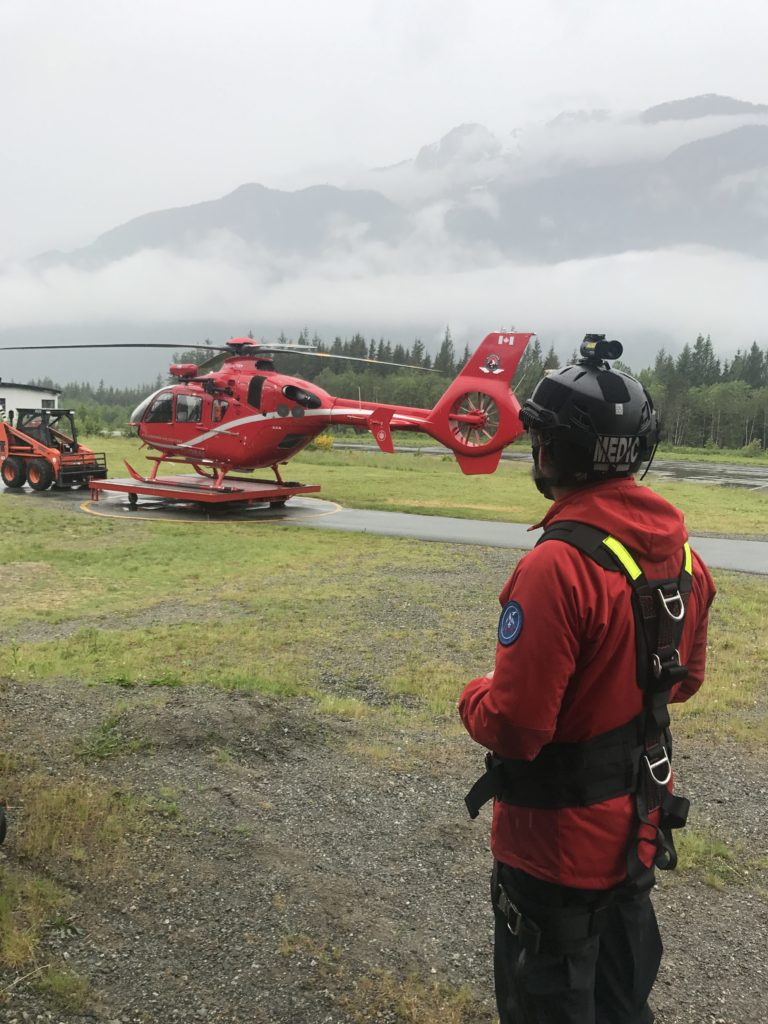 TEAAM is primarily funded by industry, charity and private donations. Pilots are pulled from the Blackcomb Helicopters pilot pool, but aeromedical crewmembers are only paid when they respond to a call. Taylor Loughran/Artbarn Films Photo
