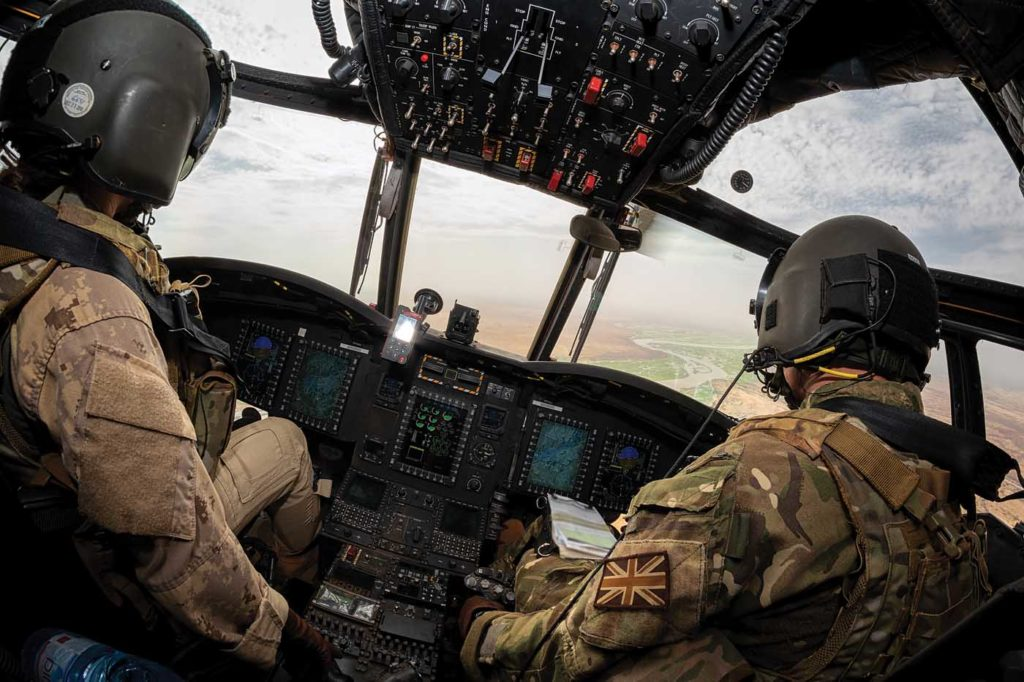 Despite the extreme heat in Mali, the complex avionics on the CH-147F Chinooks have been