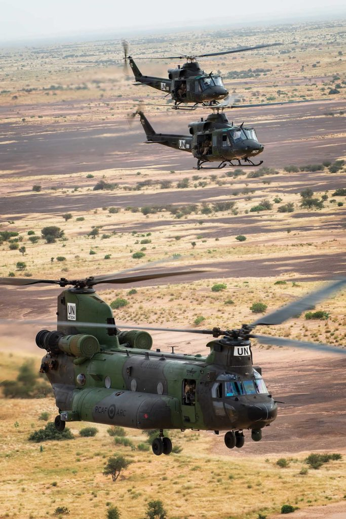 LCol Chris Morrison, commanding officer of 408 Tactical Helicopter Squadron, described Mali as