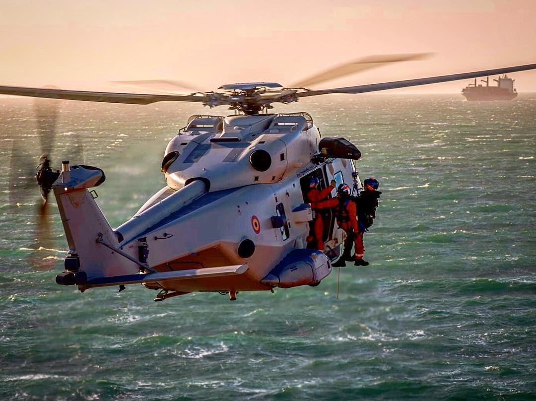 A NHIndustries NH90 conducts search-and-rescue training. Photo submitted by Instagram user @ross_impress using #verticalmag