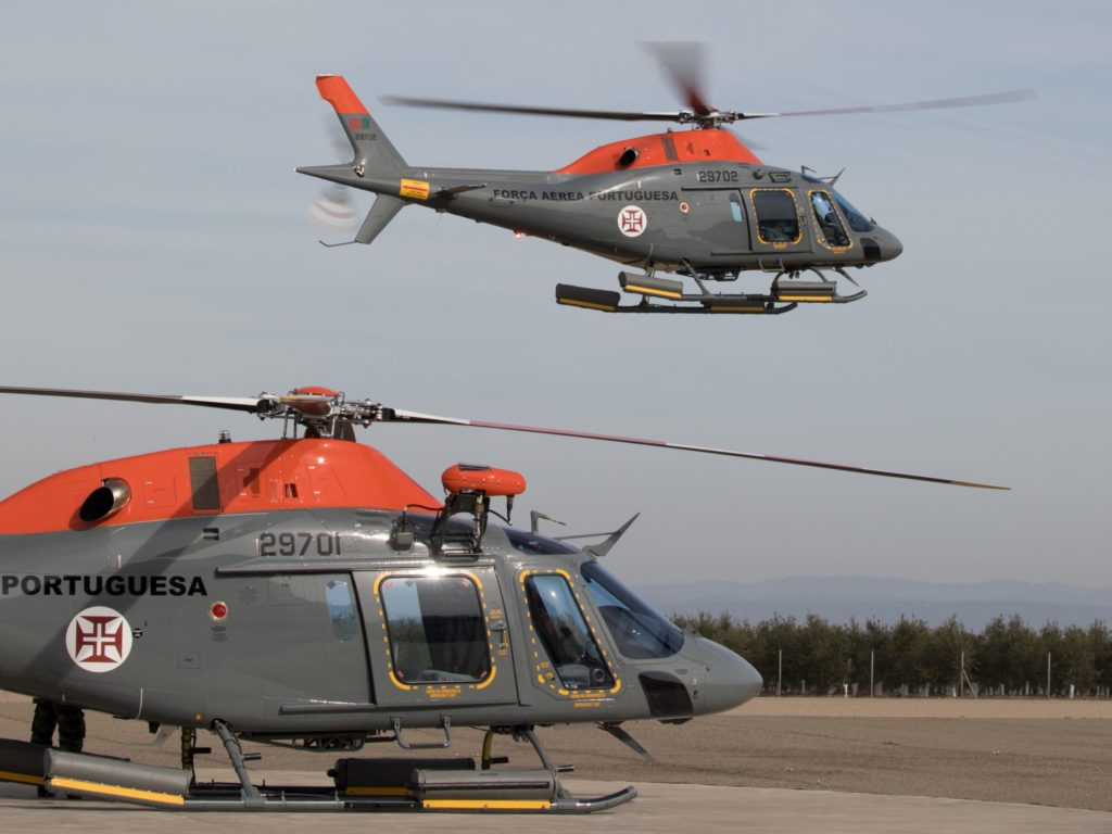 The Portuguese Air Force's first two of five AW119Kx helicopters. Leonardo Photo