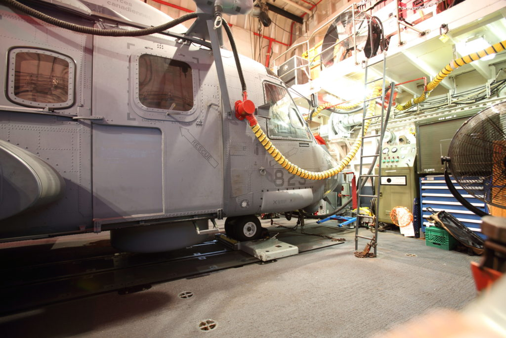 The CH-148 Cyclone on board HMCS Ville de Quebec. Patrick Dirksen and Frank Mink Photo