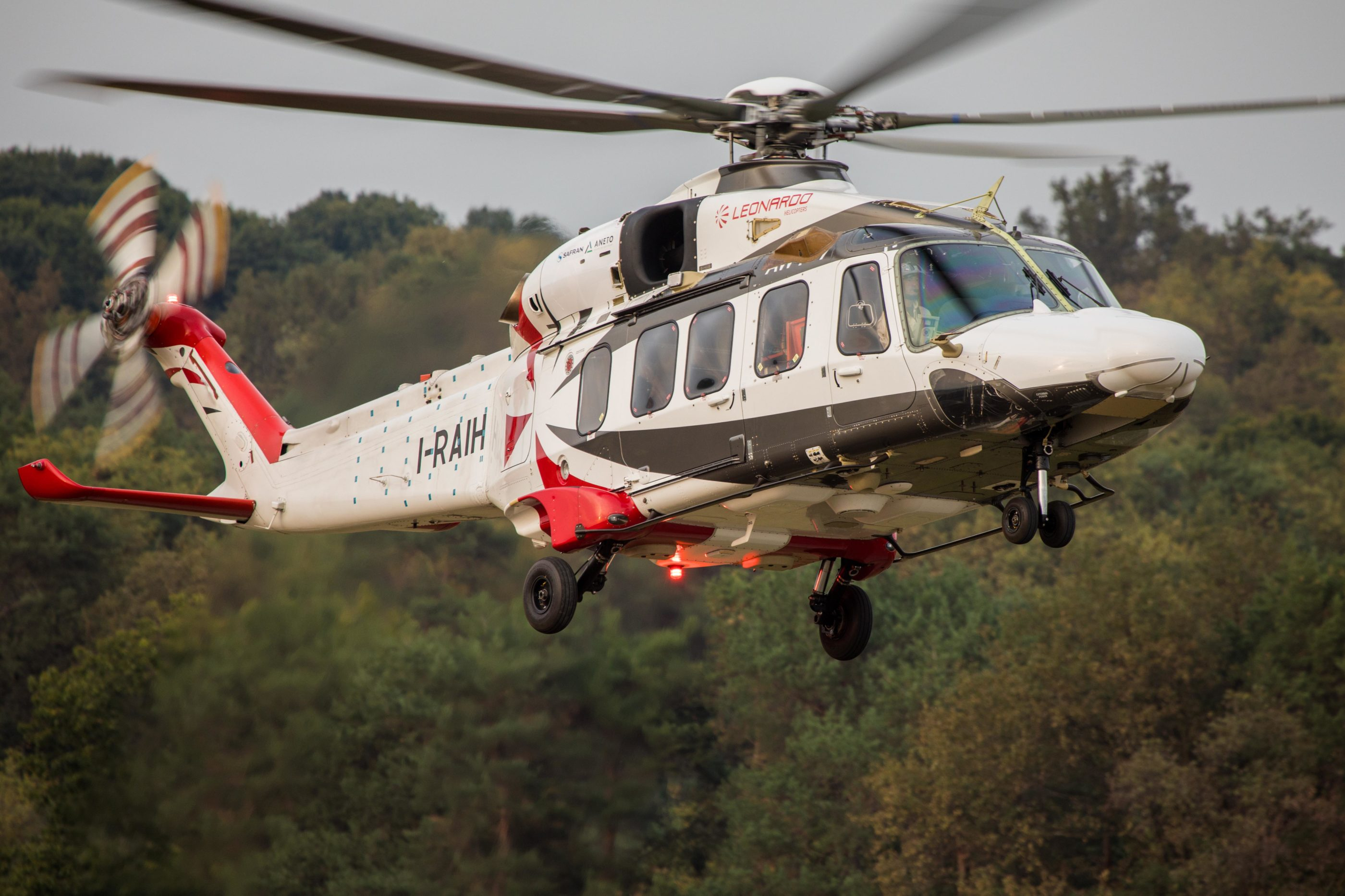 The 2,500-horsepower Aneto-1K will power the Leonardo AW189K, offering improved hot and high performance. Leonardo Photo