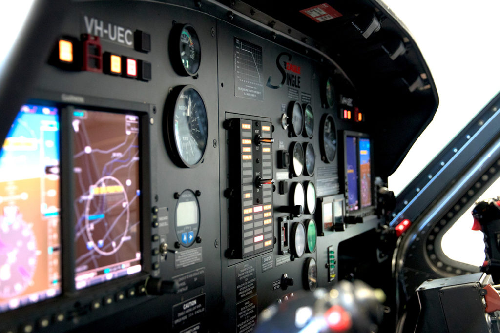 The avionics in the Asset Protection Eagle Single include the Garmin G500H, GTN750 and GTN635. Eagle Australasia Photo