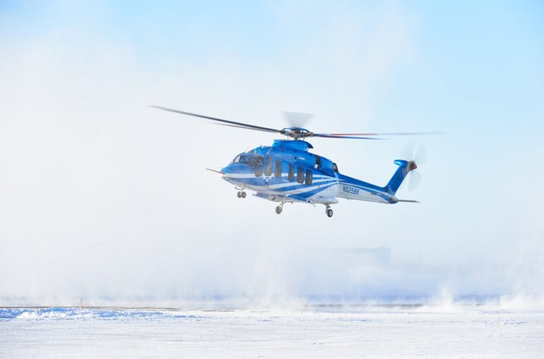 Bell began flight testing the 525 in Yellowknife, Northwest Territories, in January 2019. The type has now accrued more than 1,000 flight hours. Stephen Fochuk Photo