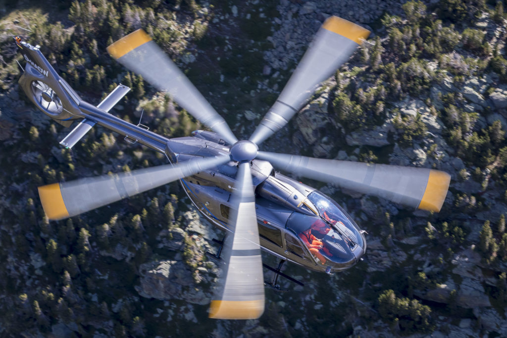 Airbus is aiming to certify the five-bladed version of the H145 in the first quarter of 2020, with deliveries to start later that year. Airbus Helicopters Photo