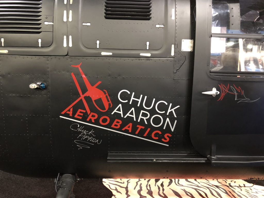 Chuck Aaron's Bo.105 helicopter with signature