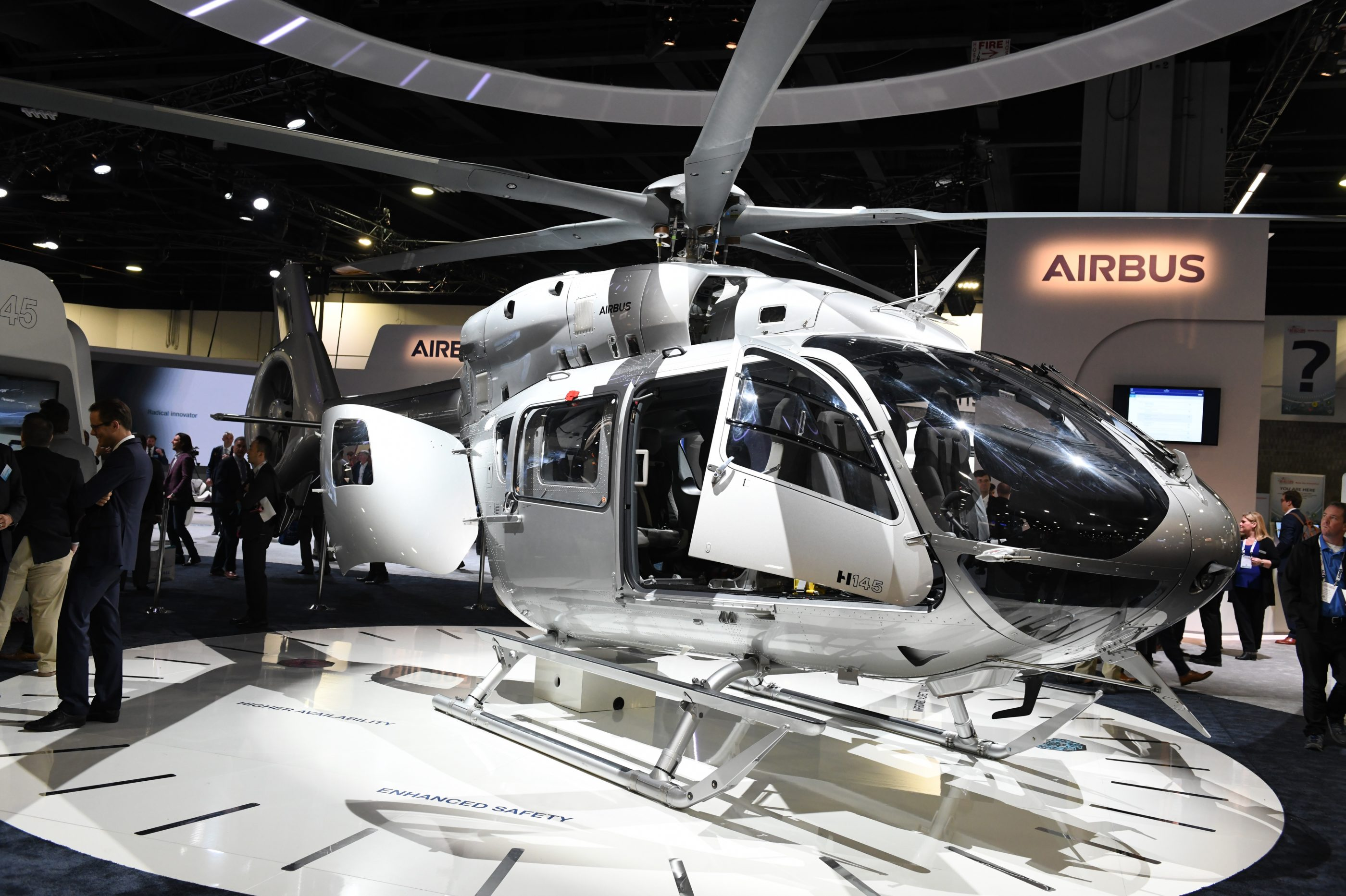 Airbus's five-bladed H145 helicopter on display at HAI Heli-Expo 2019. Anthony Pecchi Photo