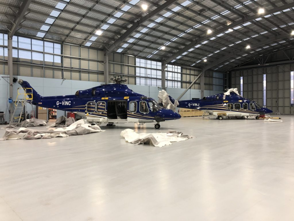 The Leonardo AW139s arrived in Australia from Aberdeen, Scotland. LCI Photo