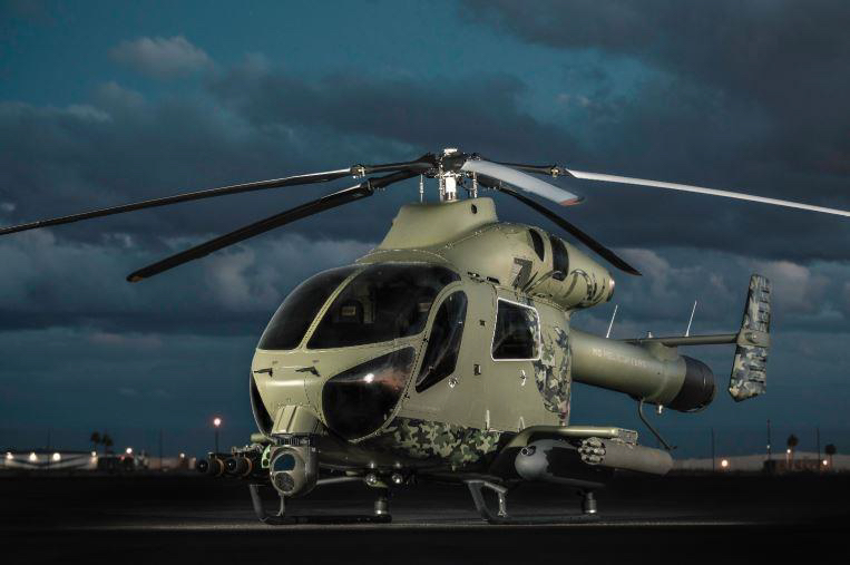 MD has brought the MD 969 Combat Helicopter to HAI Heli-Expo 2019 in Atlanta, Georgia. MD Helicopters Inc. Photo