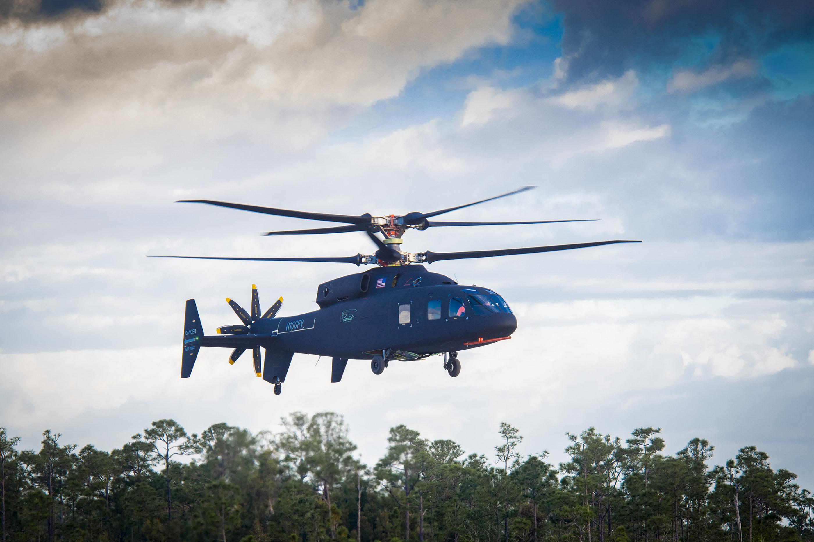 Sikorsky Boeing SB>1 Defiant in flight