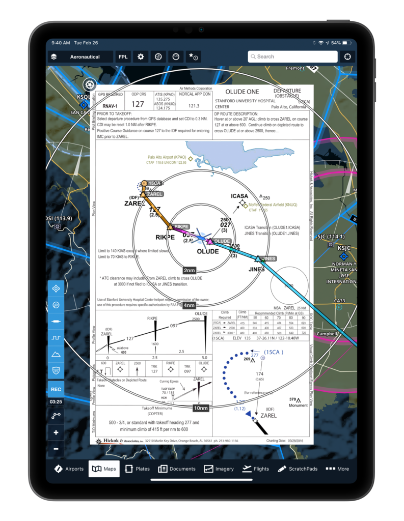 f0b0ce38f6f HAI Heli-Expo goers will be able to view Hickok s instrument flight  procedures on ForeFlight s moving map. ForeFlight Graphic