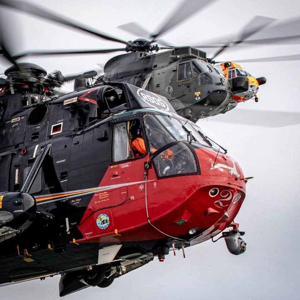 Belgian, German and Norwegian Sea Kings in a final formation flight on the eve of the Belgian Sea King's retirement. Photo submitted by Instagram user @ross_impress using #verticalmag
