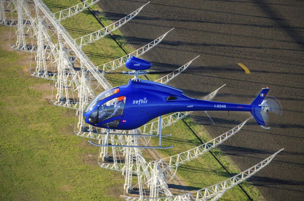 Zefhir helicopter in flight