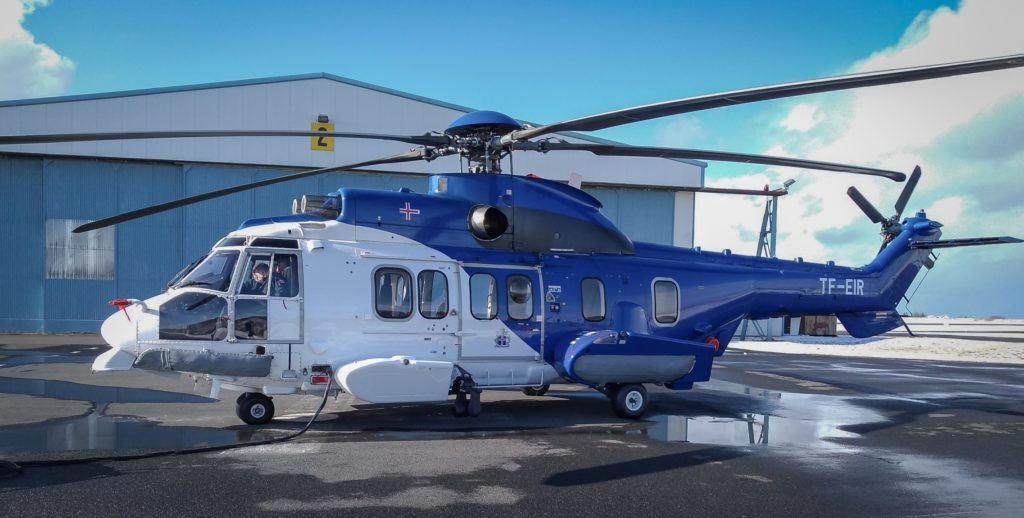 Pictured is one of the Icelandic Coast Guard's new H225s.