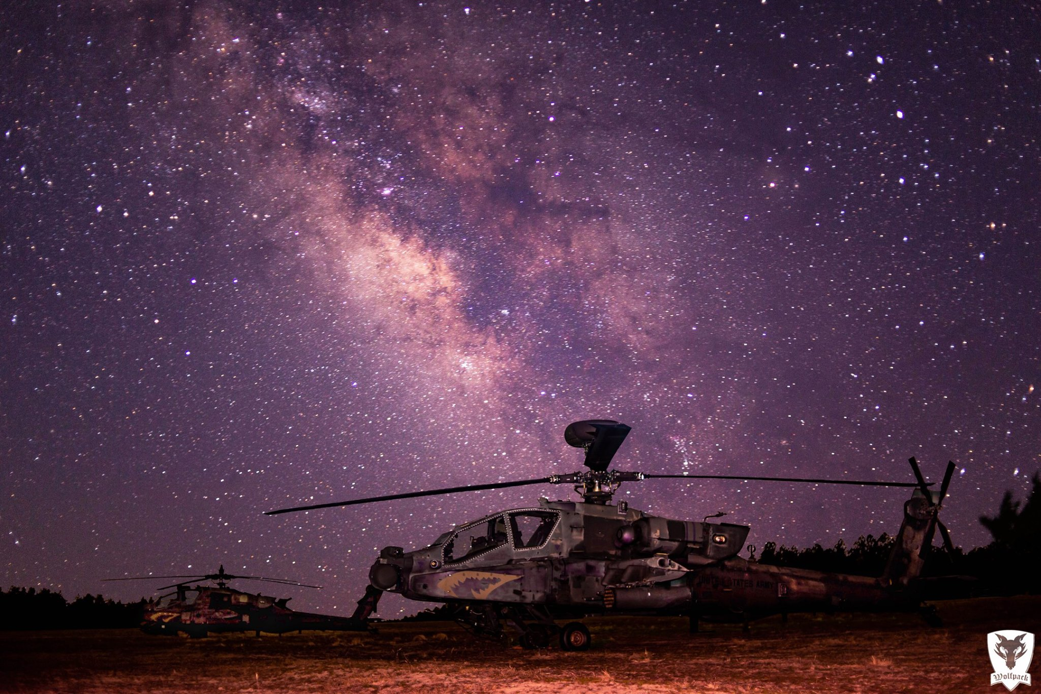 A Boeing Apache on a starry night. Photo submitted by Jeffrey Ramos / Instagram user @1_82arb using #verticalmag
