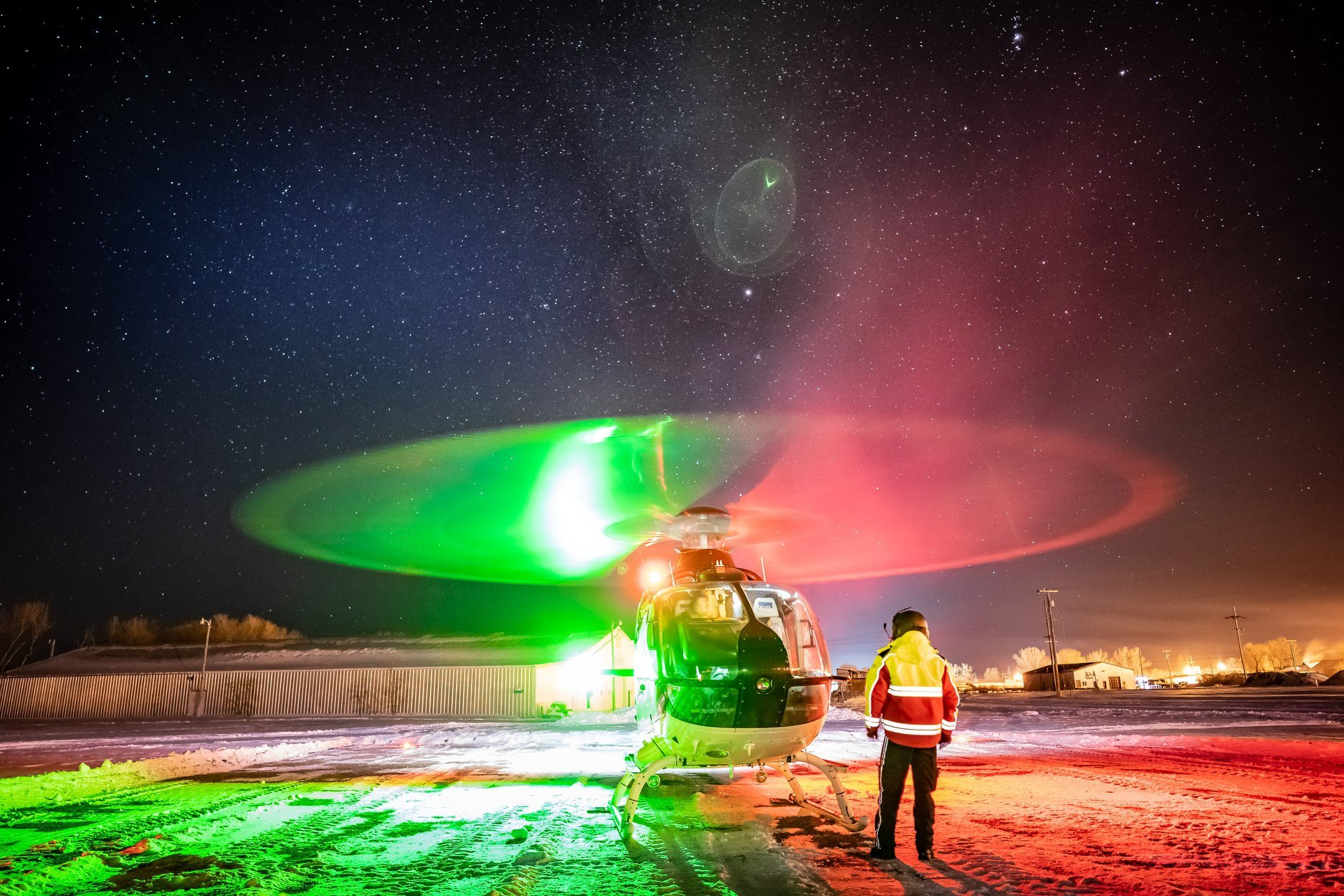 A Benefis Mercy Flight Airbus EC135. Photo submitted by Zach Stricklin (Instagram user @zstricklin) using #verticalmag