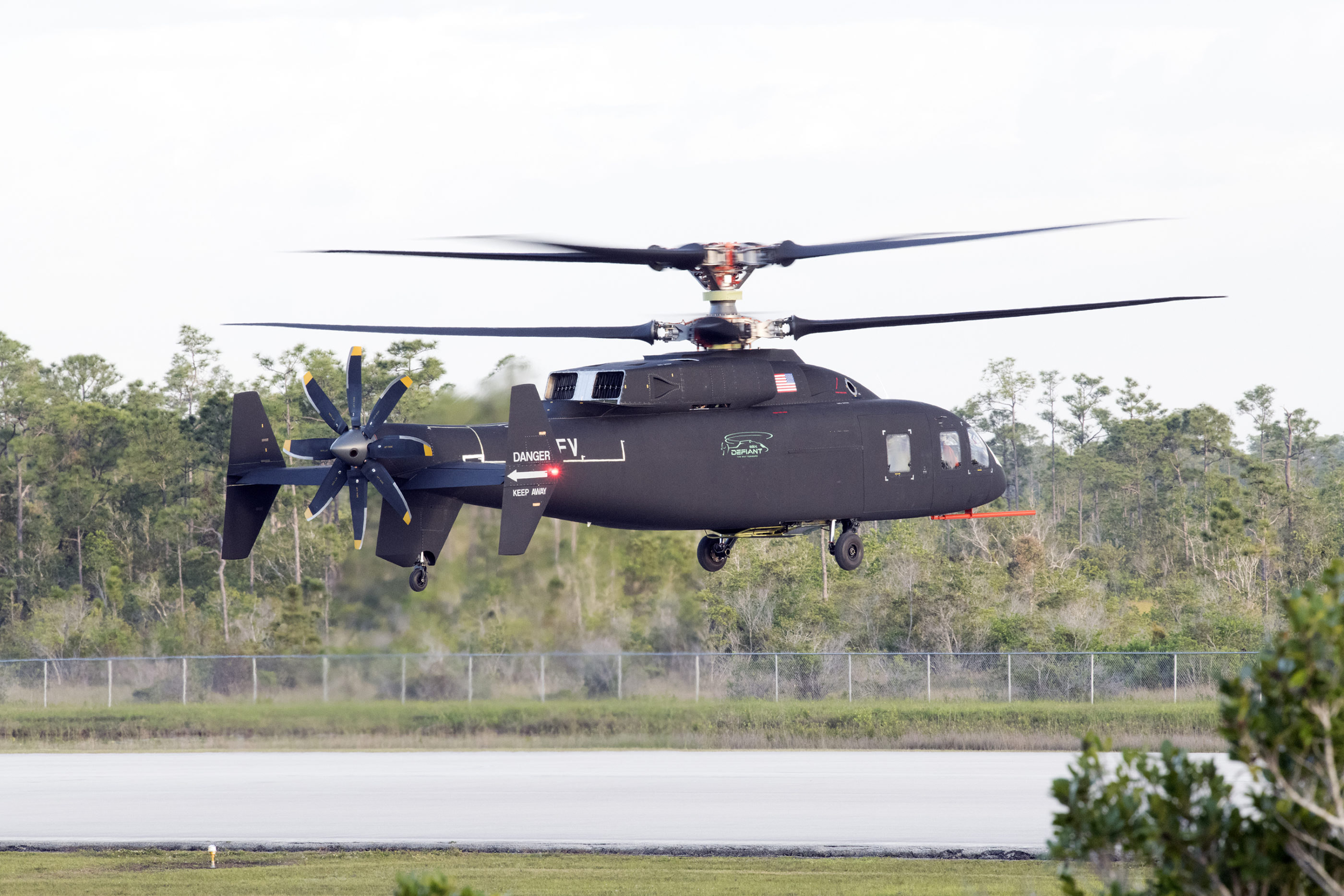 Sikorsky Boeing SB>1 Defiant helicopter in flight