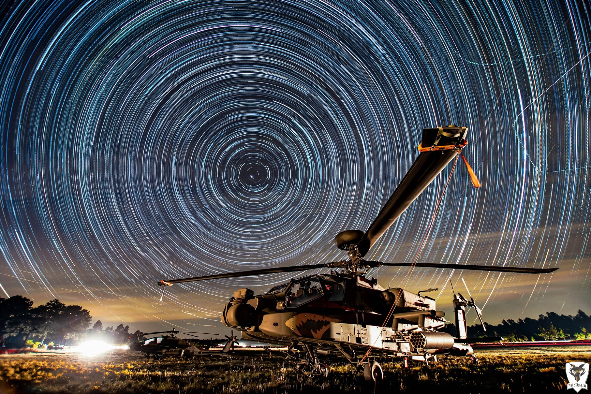 Boeing AH-64 Apache star trails. Photo submitted by Instagram user @1_82arb using #verticalmag