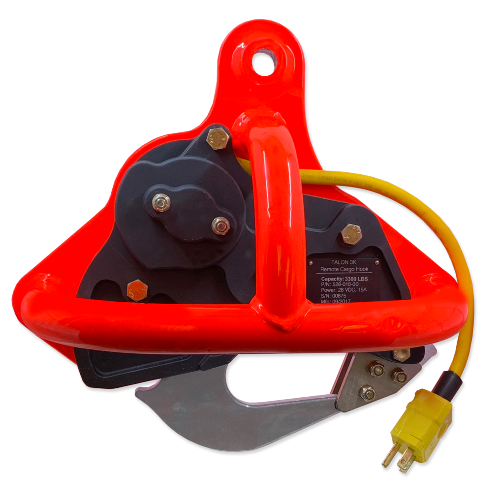 Onboard Systems has released the TALON 3.3K Keeperless Remote Cargo Hook. Onboard Systems Photo