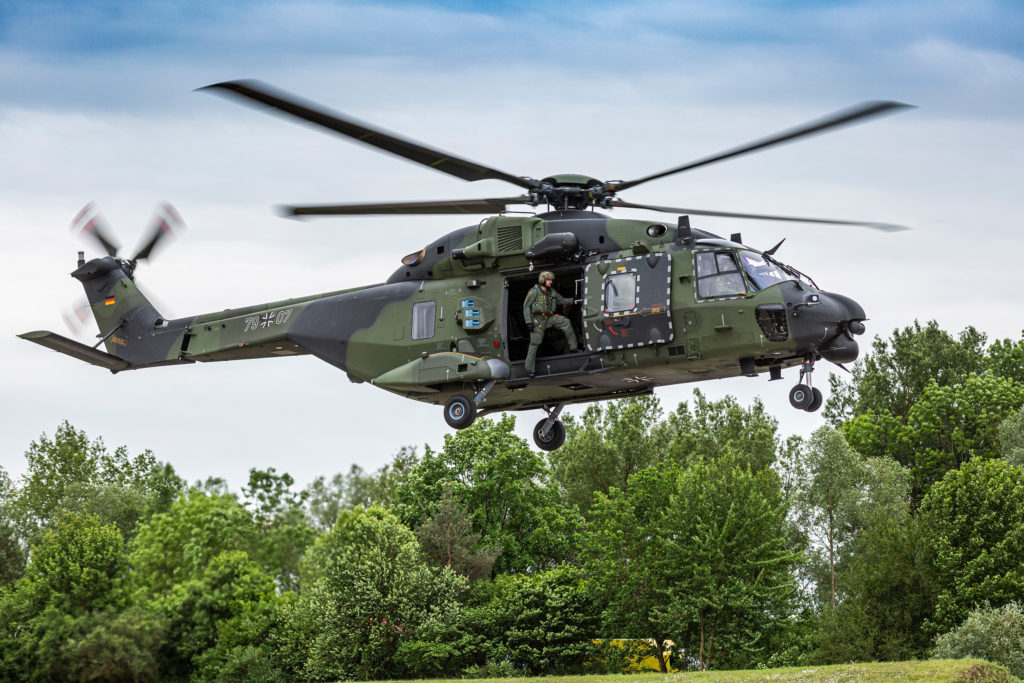 The German army currently has 74NH90 TTH helicopters, while the German navy will start to receive its 18helicopters in October2019. Christian Keller Photo