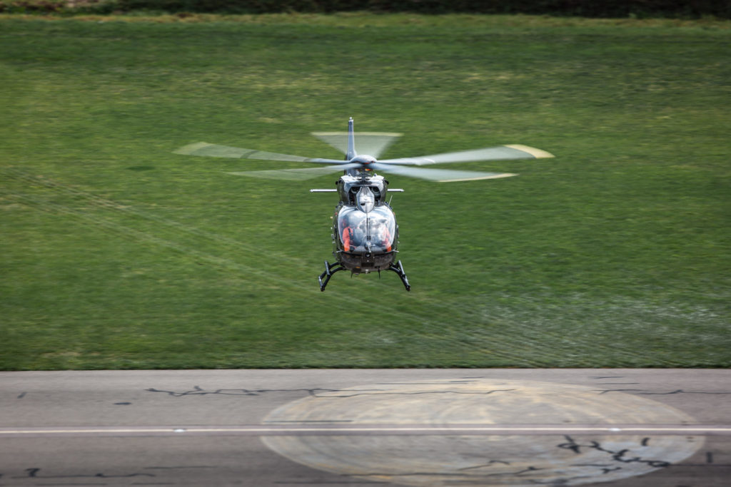There are now two prototype five-bladed H145s performing flight tests for certification of the variant. Patrick Heinz Photo