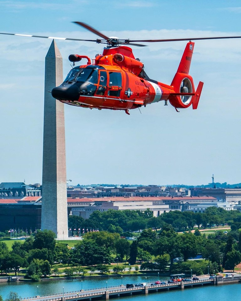 A U.S. Coast Guard MH-65 Dolphin in Washington, D.C. Photo submitted by Instagram user @flylander88 using #verticalmag