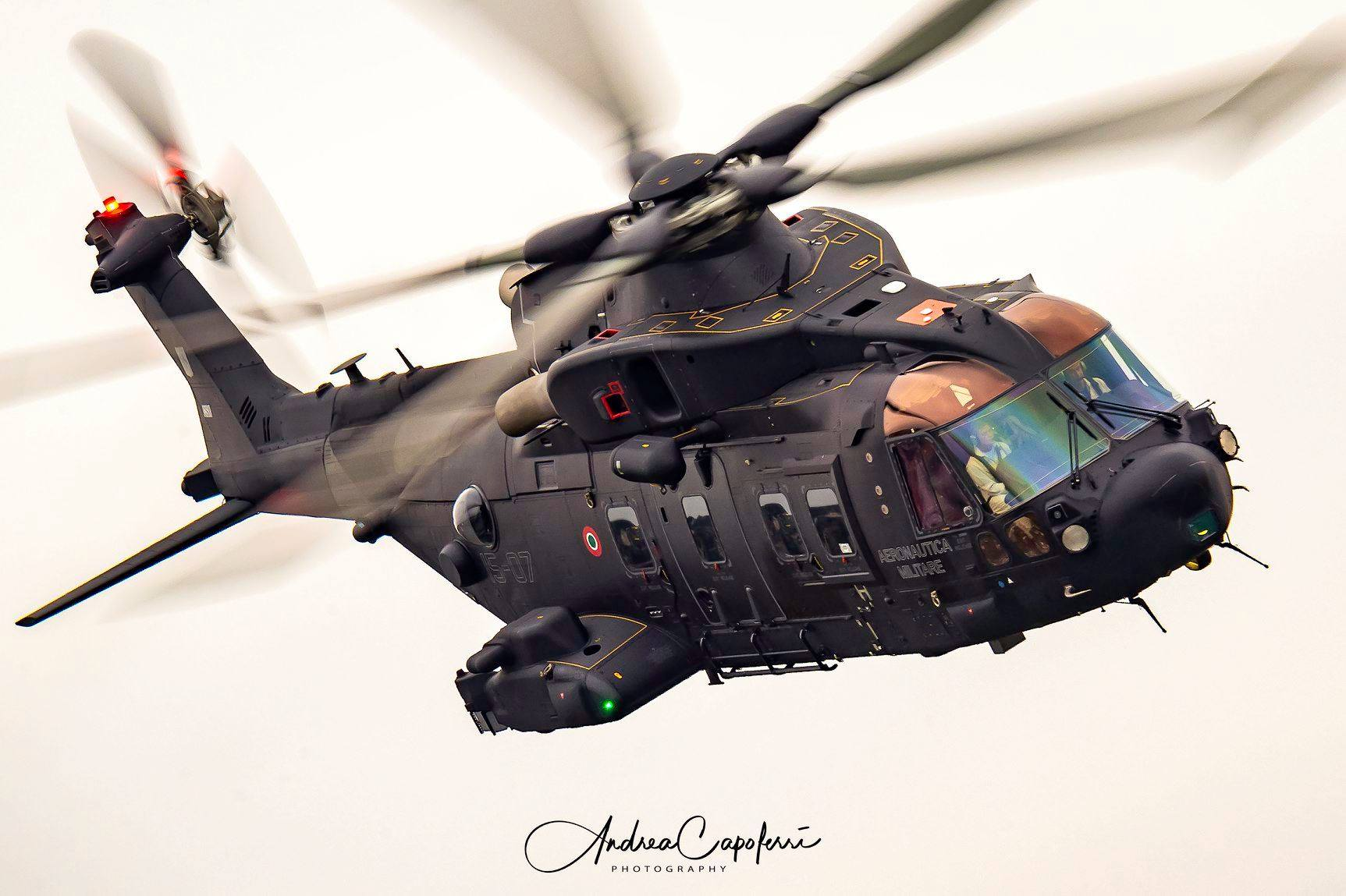 A Leonardo AW101 during a demo flight. Photo submitted by Andrea Capoferri